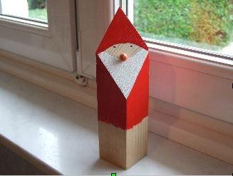 Père Noël en bois!