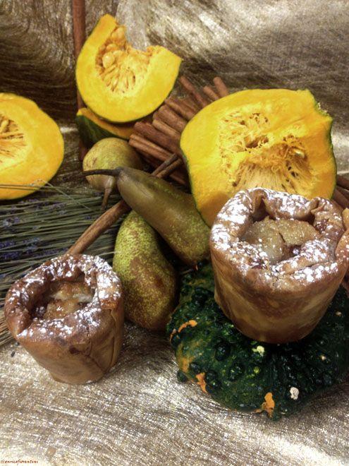 La Charlottina di pere caramellate alla gelatina di Moscato piemontese e compostina di zucca alla cannella | Honest Cooking Italia