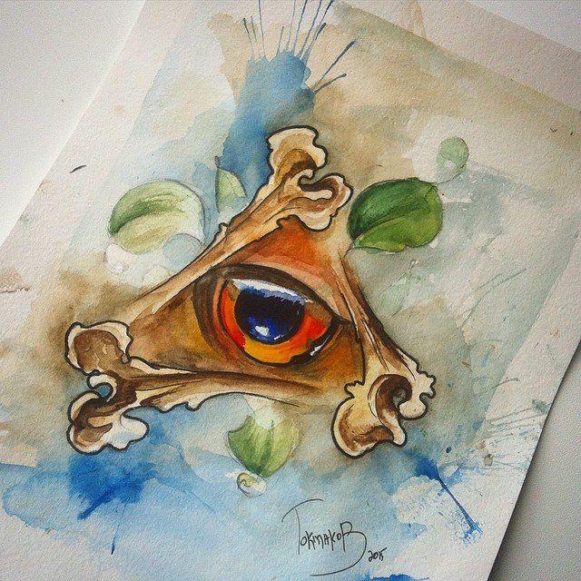 #watercolor #watercolortattoo #watercolorsketch watercolor tattoo sketch eye animal