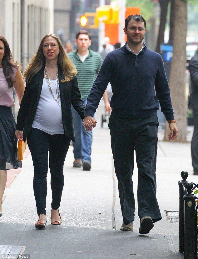 Chelsea enceinte et son mari Marc Mezvinsky