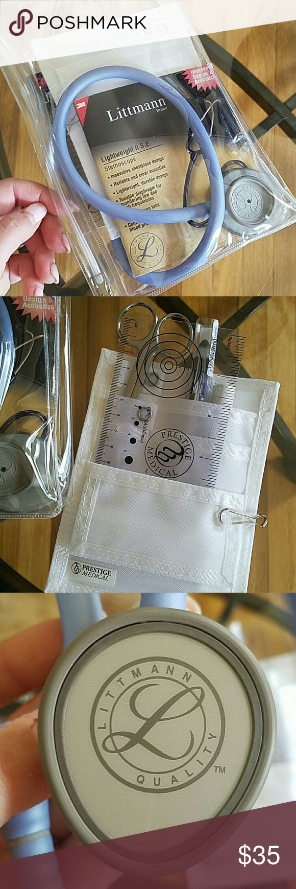 LITTMANN STETHOSCOPE Lightweight II S.E Stethoscope. Never used. Bought for nursing school. Ended up being provided with one. Accessories