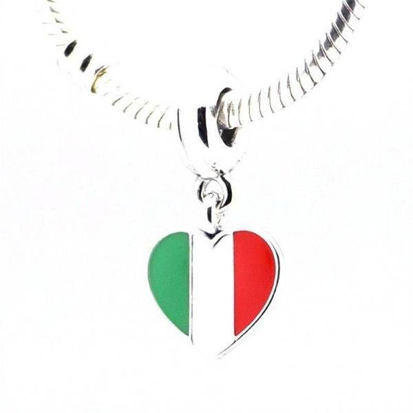 7c618aa87 Italy Flag Charm - Italy Charm fits Pandora Bracelet | Loulu charms - Loulu  Charms