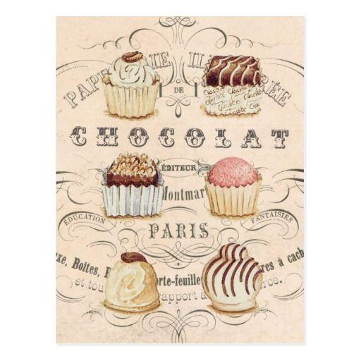 Vintage Chocolat… Postkarte