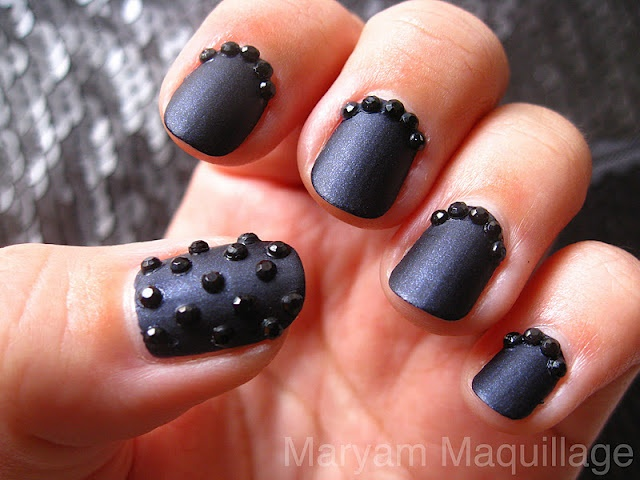 black caviar nails - Sign up for the #NailArtSociety for $9.95/mo. We will curate n deliver the latest tools,polishes accessories for u to try out the newest nail art trends at home! @Nail Art Society  pheed.com/nailartsociety