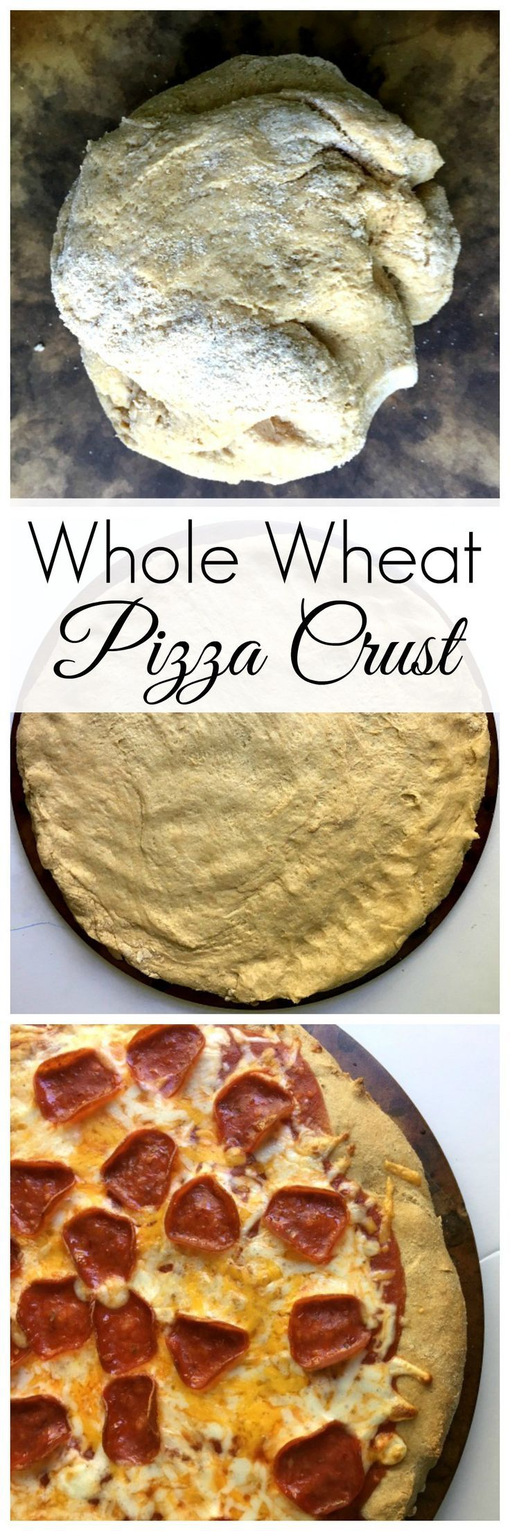 Healthy Homemade Whole Wheat Pizza Crust! A delicious and easy recipe the whole family will love!