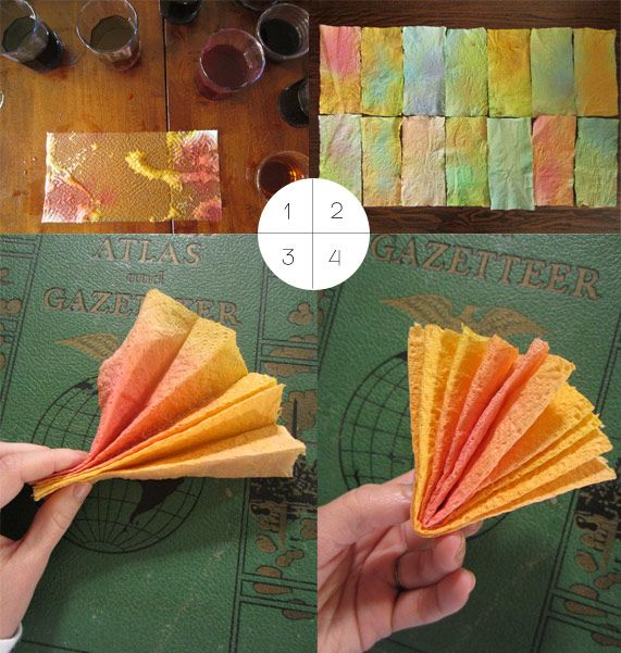 color paper towels with easter egg dye: Collage Cards Sculpture Doll, Craft Projects, Art Projects