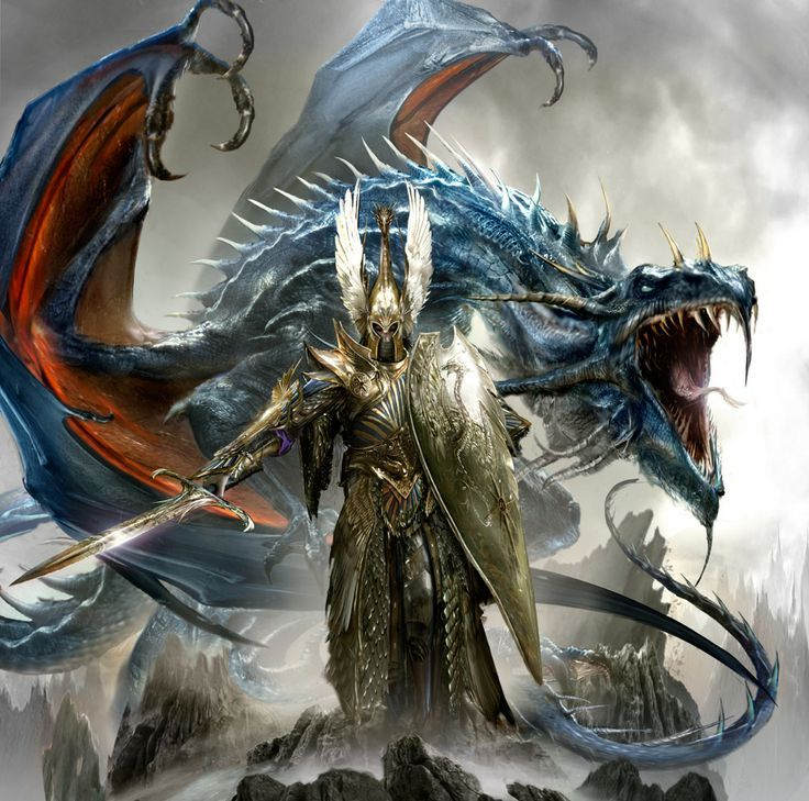 Heavenly champion and dragon