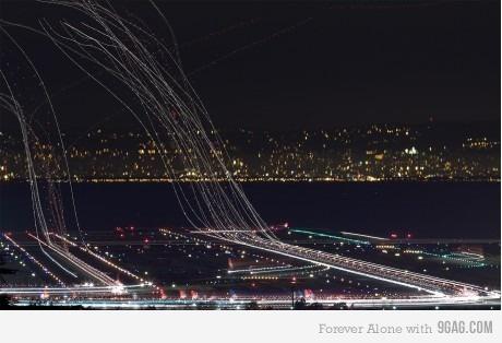 long exposure airport