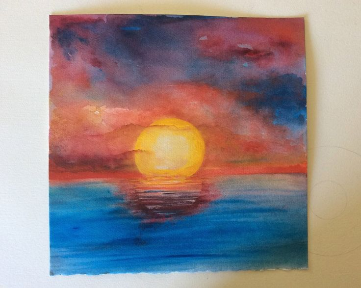 How To Paint An Impressionistic Sunset In Watercolor Fast