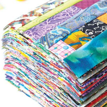 Keep your Fabric Stash in Check with String Quilting.String piecing is a fantastic way to use up the long, skinny pieces of fabric you might have left over from trimming quilt blocks, backing, or even as excess binding.