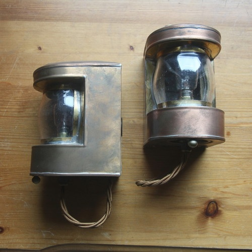Jim Lawrence Lighting Wall Lights : Jim Lawrence Copper Wall Light - Pair
