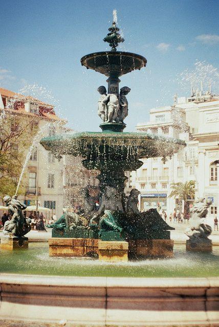 "Rossio Square, Lisbon, Portugal - ""Rossio Square (Lisbon"" by Katarina Ribnikar, via Flickr"