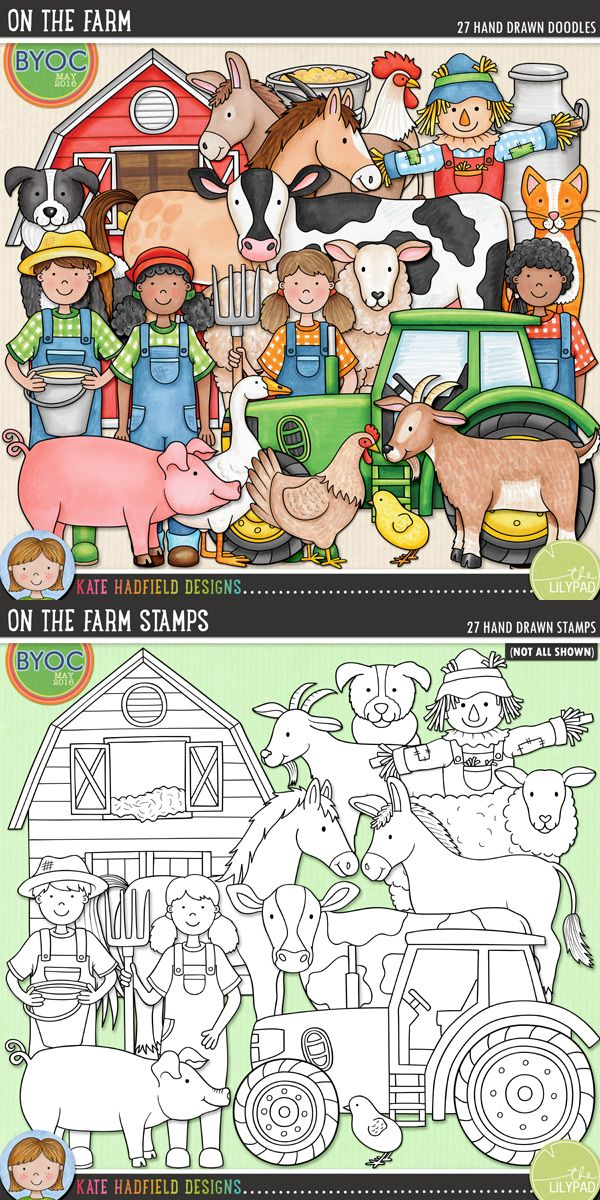 The companion pack to my Farmer's Garden doodles, On the Farm focuses on the furry and feathered barnyard friends to be found down on the farm! Perfect for recording memories of farm trips and visits to the petting zoo! #katehadfielddesigns