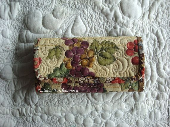 """Quilted, textile wallet """"Chianti"""""""