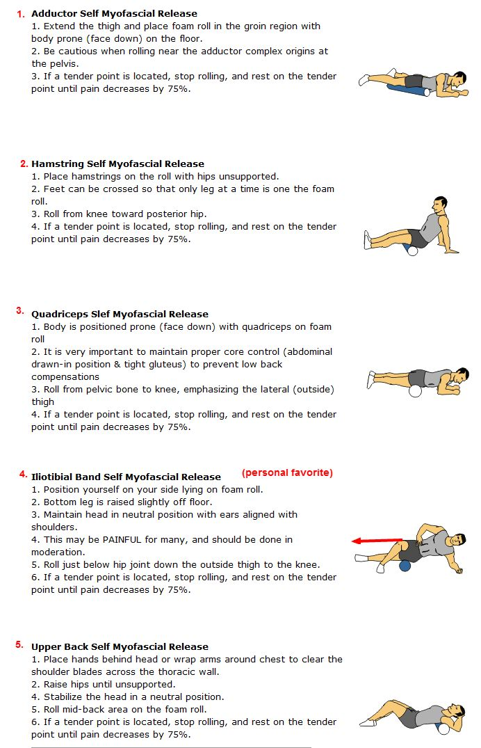 Running Tips - roll out your tight legs on a foam roller!