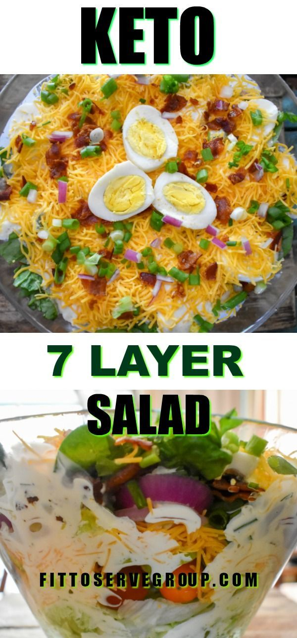 Keto 7 Layer Salad This Recipe For Seven Layer Salad Is Made Easily And It S A Perfect 24 Hour Salad Allo Seven Layer Salad Layered Salad Layered Salad Recipes