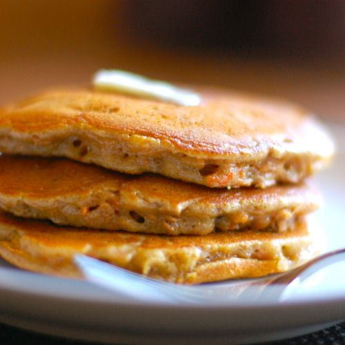 Cinnamon Apple Carrot Pancakes with Butter