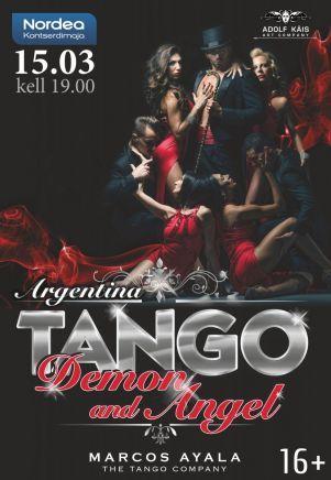 15.3. Marcos Ayala Tango Company: Argentiina Tango - Angel and Demon.   Argentiinalaisen tanssija-koreografi Marcos Ayalan tanssiryhmä saapuu esiintymään Nordea Kontserdimajaan. Angel and Demon -esitys pitää sisällään kiihkeää ja tulista tangoa 12 tanssijan voimin. #eckeröline #eckeroline #tallinna