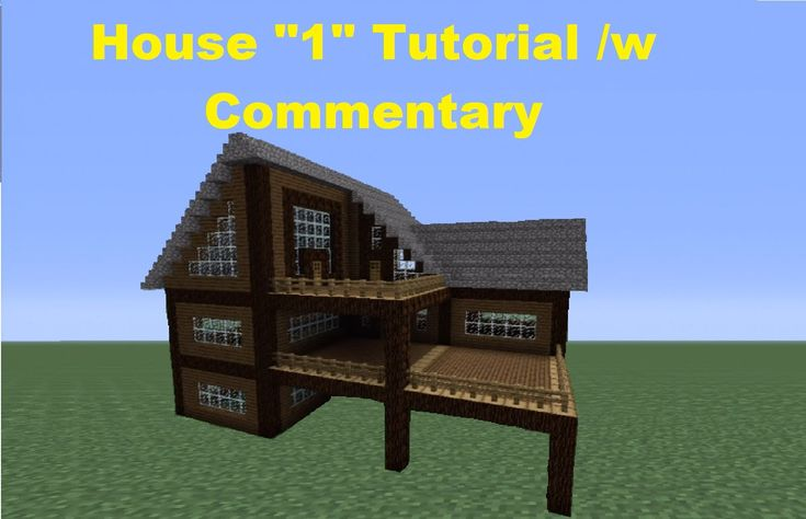 Minecraft 360: How to Build a Spruce Wood House - House 1 - YouTube