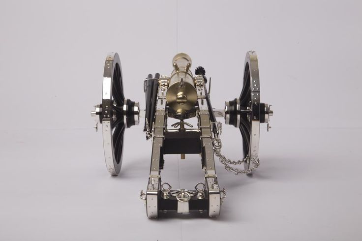 Sterling Silver 12 Pounder Gribeauval Cannon and Limber made to exacting detail made by Zane Palmer
