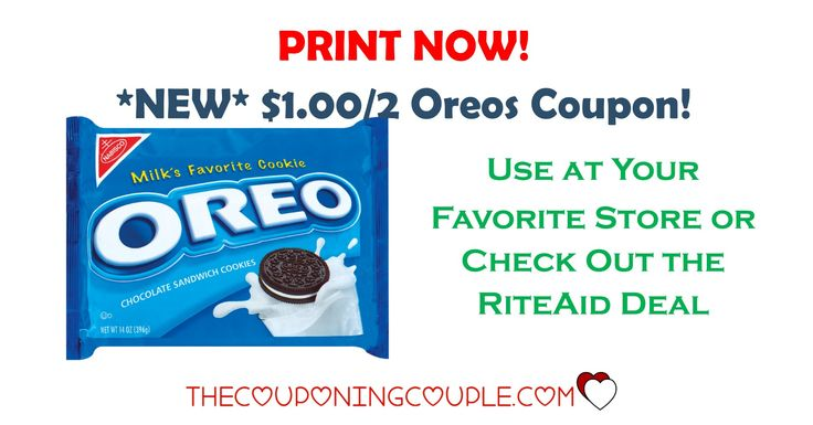 *PRINT NOW!* There is a NEW $1.00/2 Oreos coupon to print! This will go FAST! Snag a deal at Rite Aid or use at your favorite store!  Click the link below to get all of the details ► http://www.thecouponingcouple.com/new-12-oreos-coupon-riteaid-sale/ #Coupons #Couponing #CouponCommunity  Visit us at http://www.thecouponingcouple.com for more great posts!