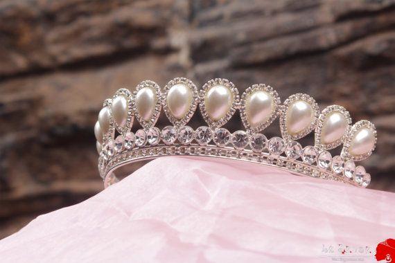 Unique handmade princess tiara crowntiaras for wedding by Lesense