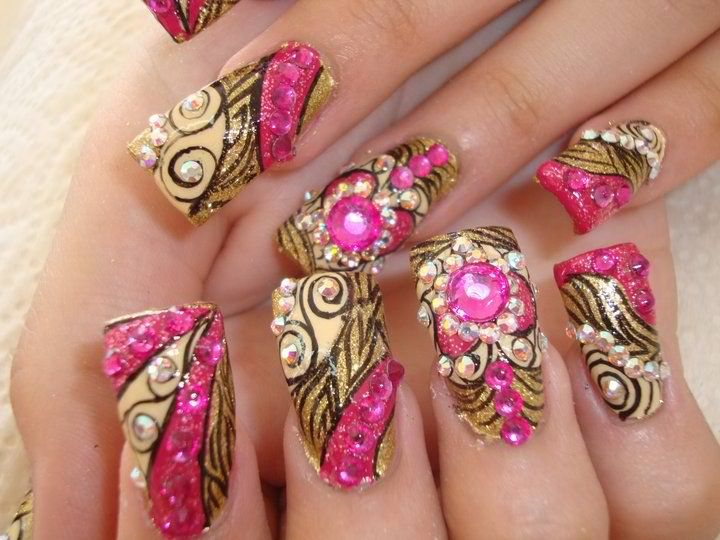 30 Best Images About Pink Gold Nails On Pinterest Nail Art China Glaze And Studs