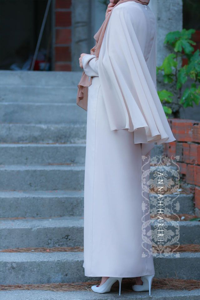 Chiffon cape maxi modest dress - online islamic wear www.annahariri.com
