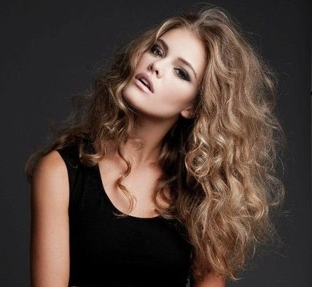 Big Messy Curls- Really into this natural look