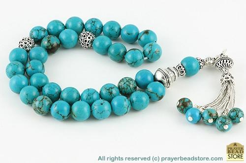 Turquoise prayer beads
