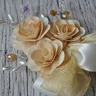 Ivory Rustic Brooch Corsage...