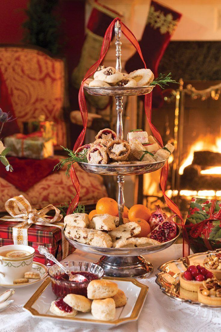10 gorgeous christmas table decorating ideas 187 photo 2 - Southern Christmas Christmas Tea Christmas Cookies Merry Christmas Tea Tray Vintage Tea Tea Pot Sweet Tea Downton Abbey