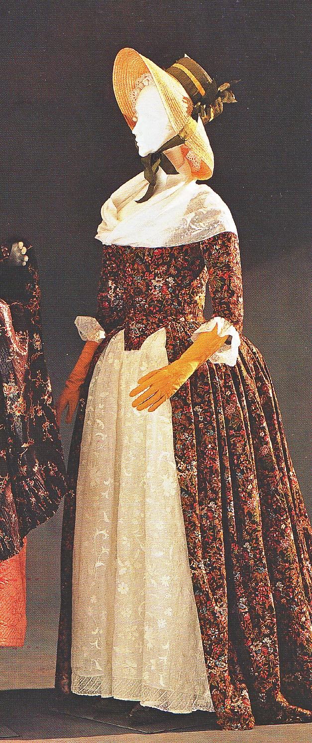 Robe à l'Anglaise, 1790-95.