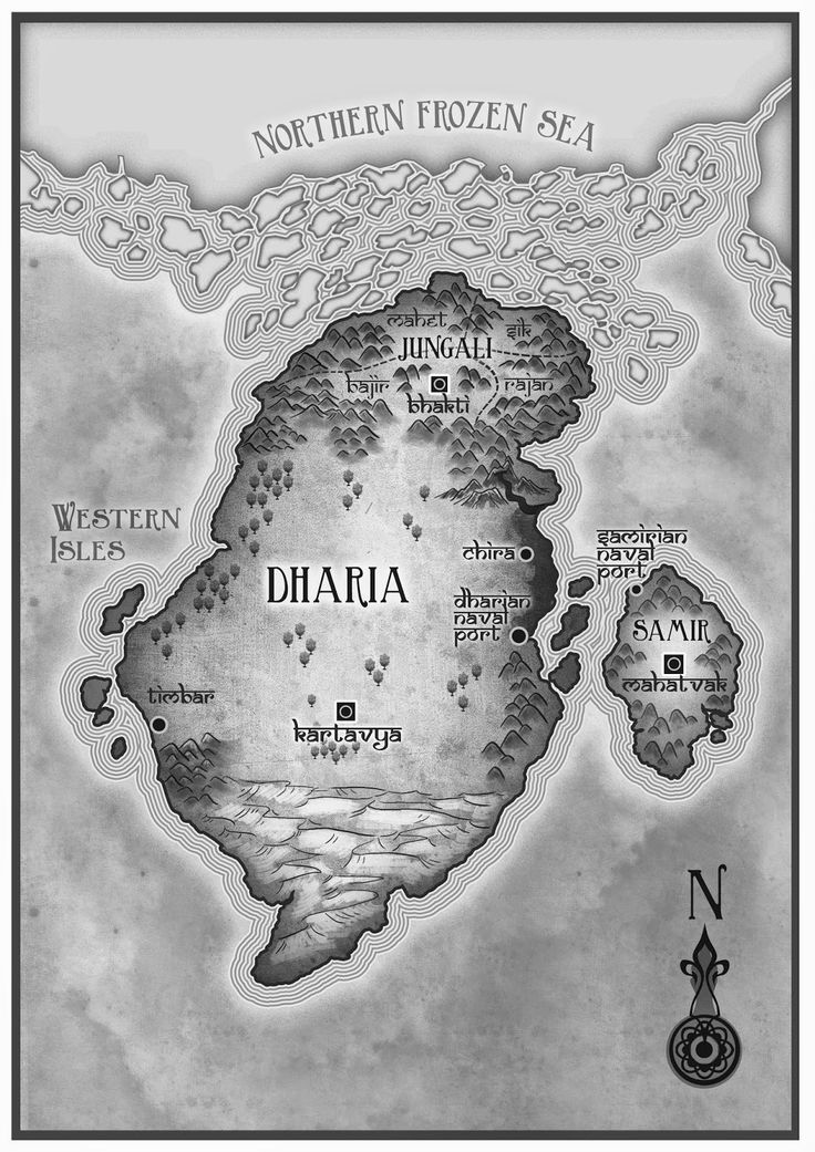 Map for the Dharian Affairs Trilogy by Susan Kaye Quinn #steampunk #fantasy #romance