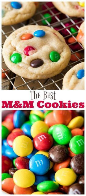 This is it! The BEST M&M Cookie Recipe! So good and so easy, no mixer required! …