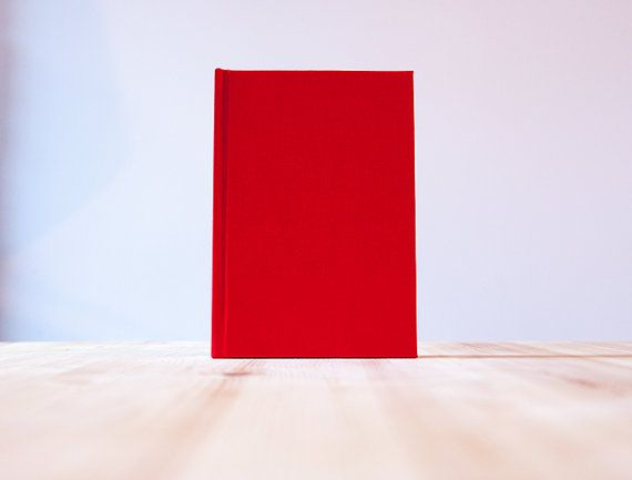 Red Book Cloth Hardcover Notebook  Sketchbook  by knotbooks
