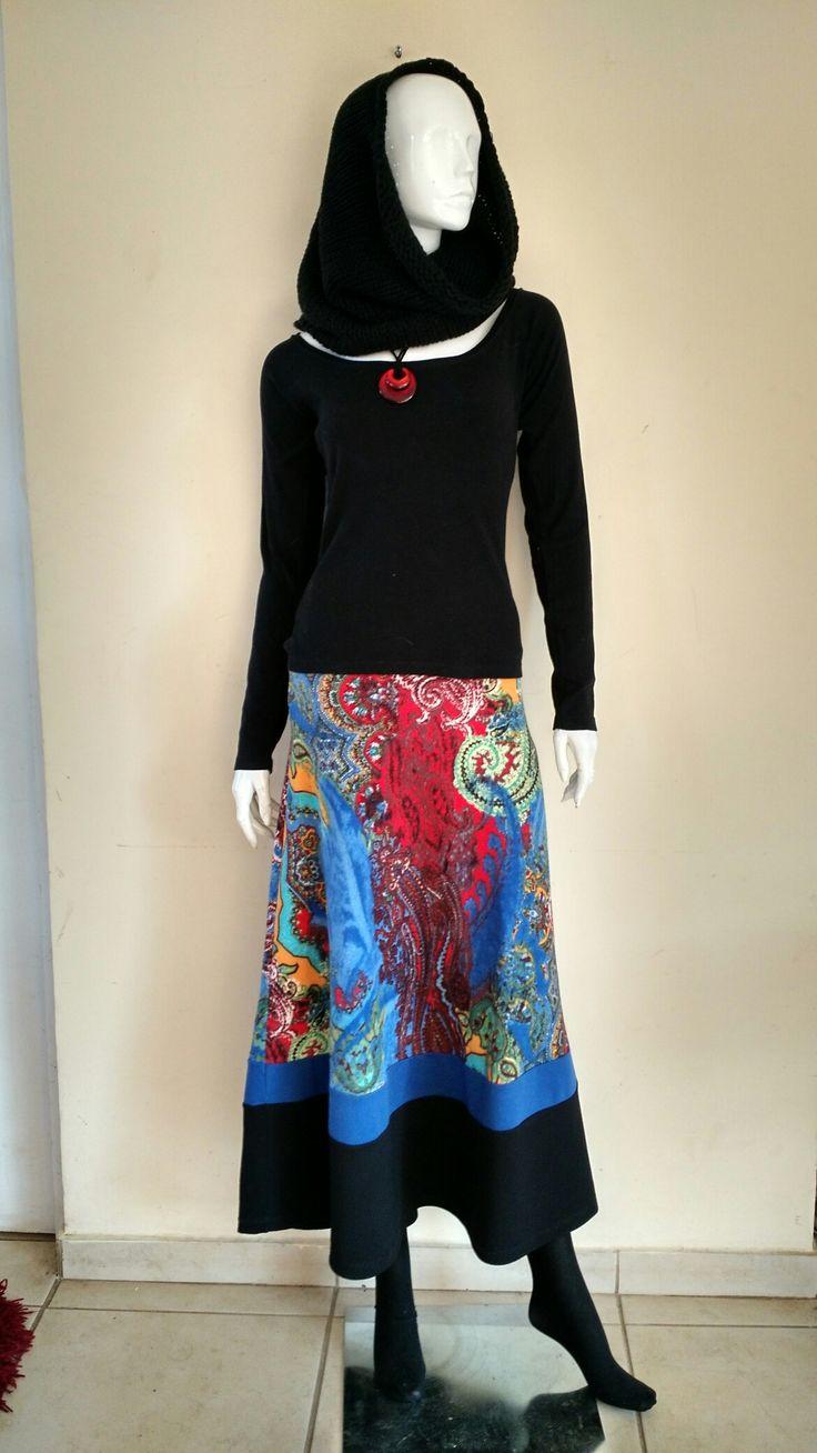 Falda larga de Lanilla