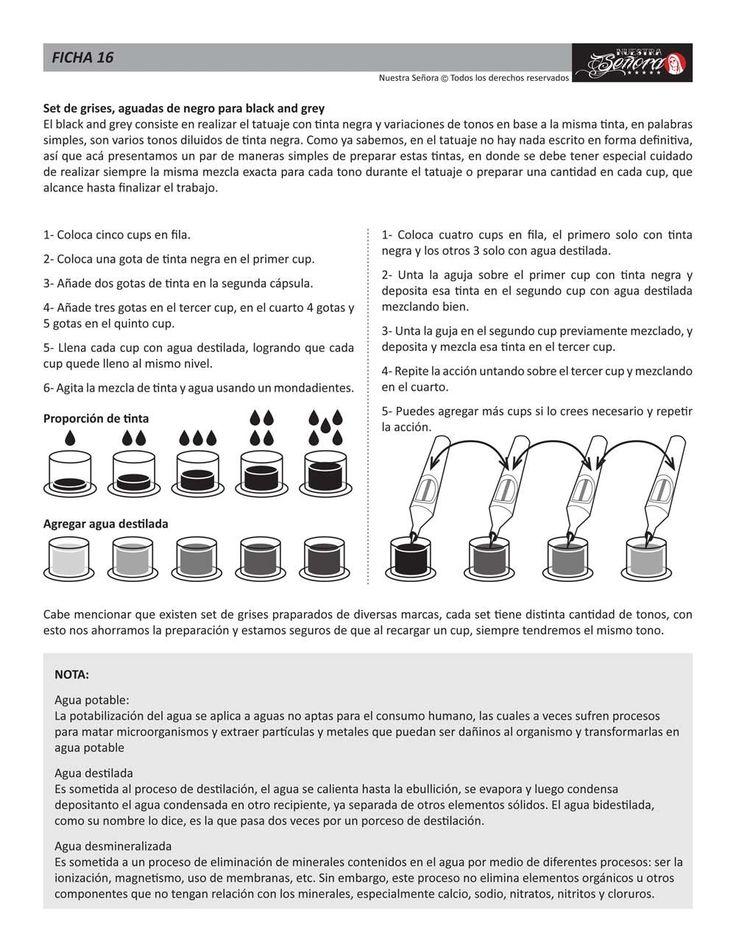 Ficha 16 / Preparar grises - Caos Tattoo | Estudio de tatuajes profesional | Tatuadores en Santiago