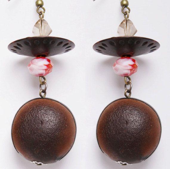 Sea hamburger earrings by DriftwoodandMoss on Etsy