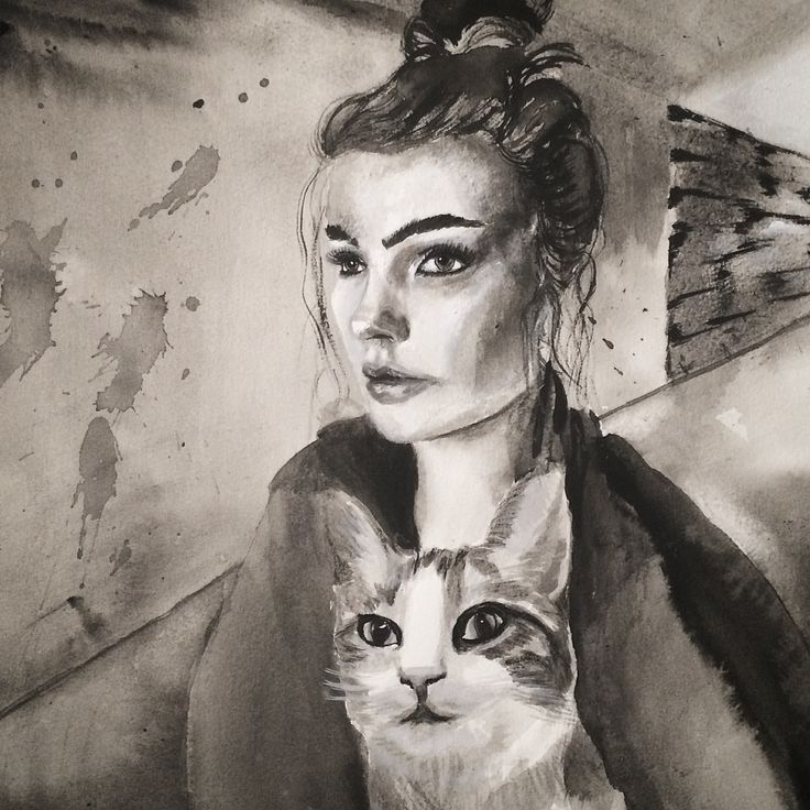 Silent friends. 2016. Acrylic on paper. #artbybitta