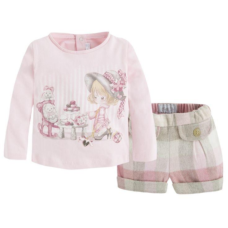 Mayoral Kız Bebek T-shirt Uzun Kol Şort Set | Mayoral Kız Bebek T-shirt Uzun Kol…
