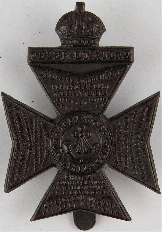 King's Royal Rifle Corps - WW1 Economy Pattern Solid Centre