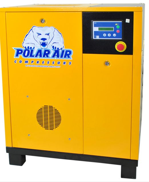 Eaton Compressor brings you Polar 5hp 1ph Rotary Screw Air compressor for sale at just $3,659.00. We do not use chinese motors. For your convenience, Canadian 380V and 575V also available at additional cost. We are shipping throughout the United States, Canada & Mexico.