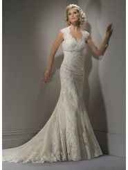 Lace Sweetheart Neckline A-line Wedding Dress
