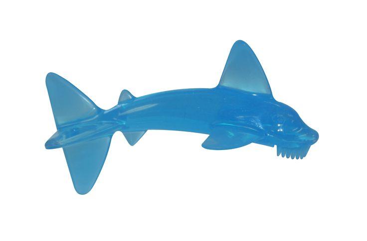 Baby Sharky Brush  Mordedor de silicona con mango.  Ayuda a aliviar las encias de tu bebe.
