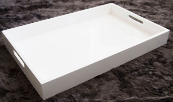 Large White Glossy Tray, White Home Decor, Serving Tray, Ottoman Tray, Coffee  Table Tray, Cosmetics Tray, Decorative Tray By MKdesignn On Etsy Httpu2026