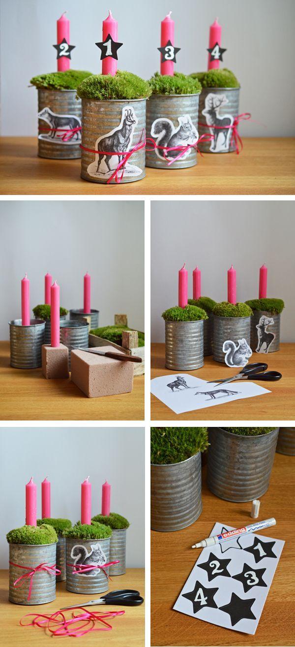 die besten 25 adventskranz selber machen ideen auf pinterest adventsdeko selbst gemacht. Black Bedroom Furniture Sets. Home Design Ideas
