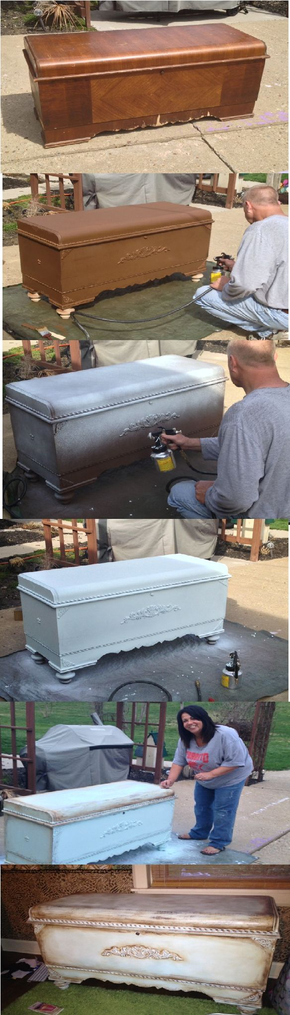 Cedar Chest Makeover - DIY going to do this with my Mother cedar chest I have