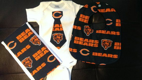 Boutique Chicago Bears Baby Gift Set by BonitaCouture on Etsy, $27.00