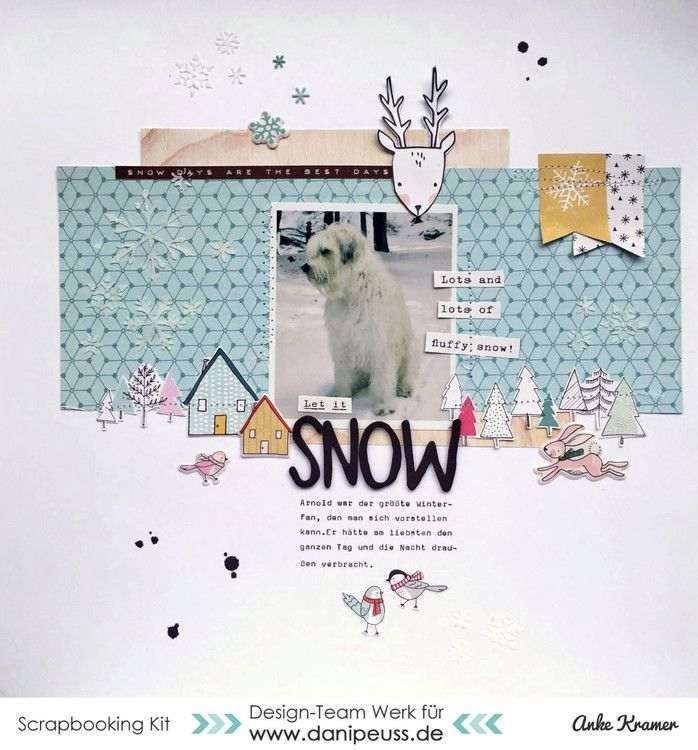 Let it snow by AnkeKramer at @studio_calico                                                                                                                                                                                 More